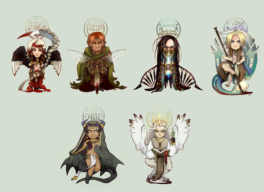 Chibi demons - cast by ianuae