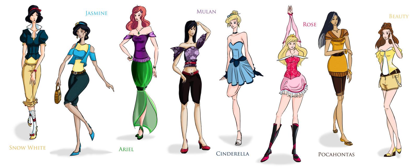 Disney Princesses by Cherie327