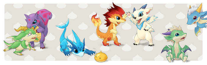 Child Dragons by hydrowing
