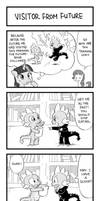 MLP 4koma Page 3: Visitor from Future