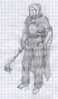 Noble gaul warrior of the arverni tribe
