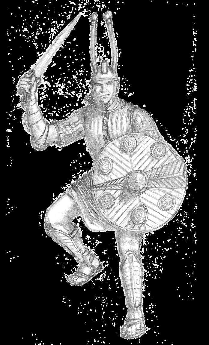 Nuragic Warrior redone by B4LD3R