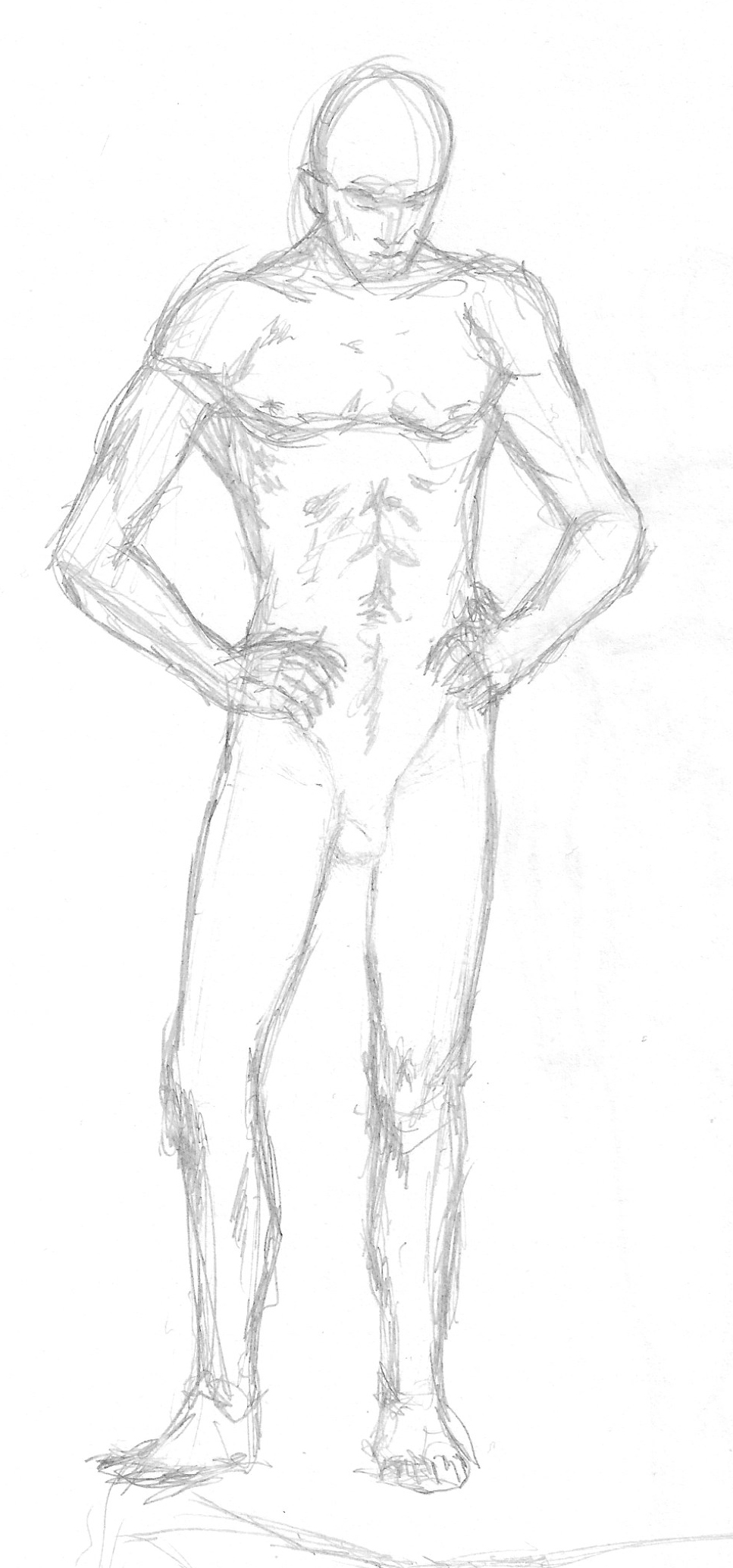 Standing man casual pose sketch by B4LD3R on DeviantArt