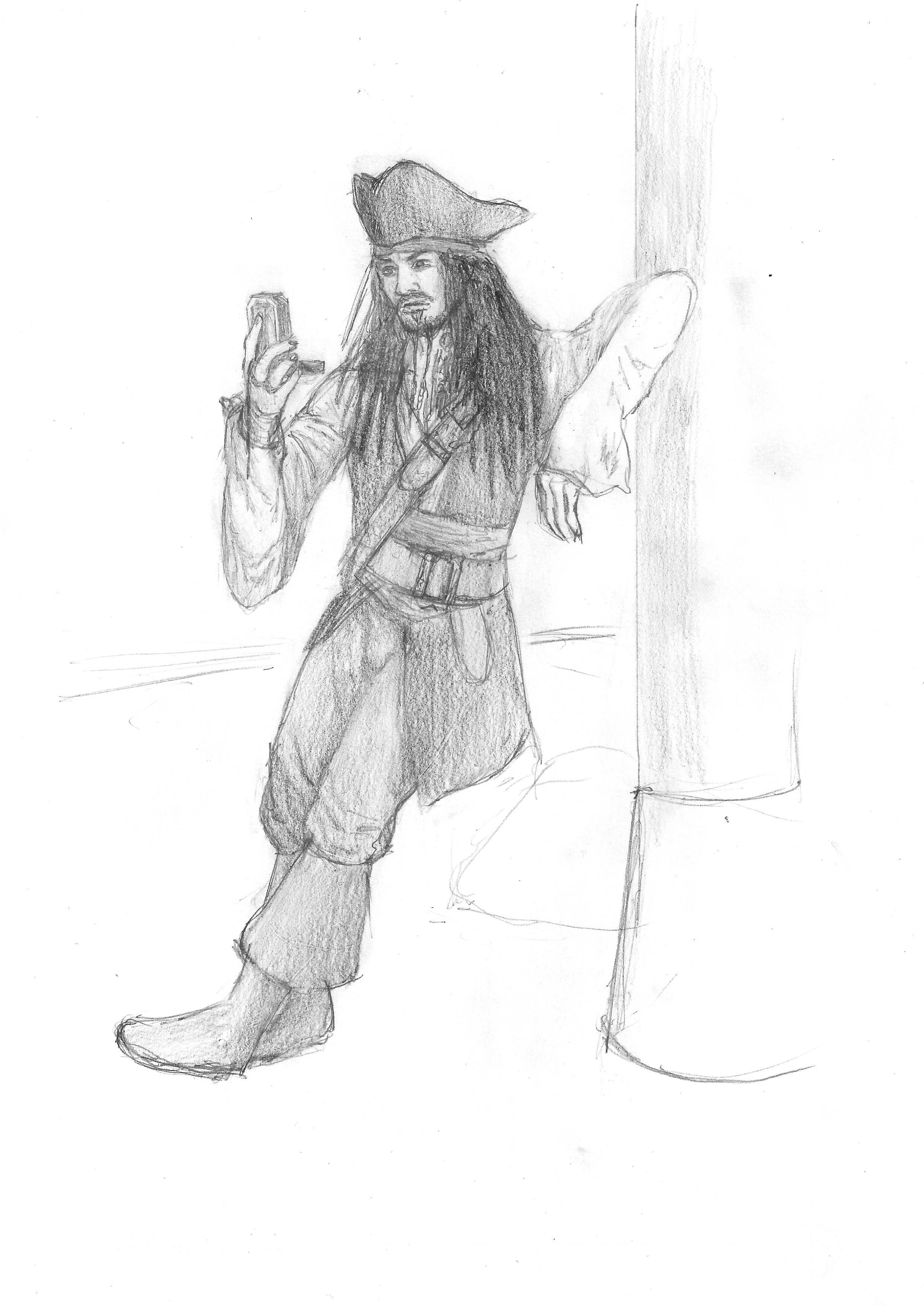 Cpt.Jack Sparrow and his compass