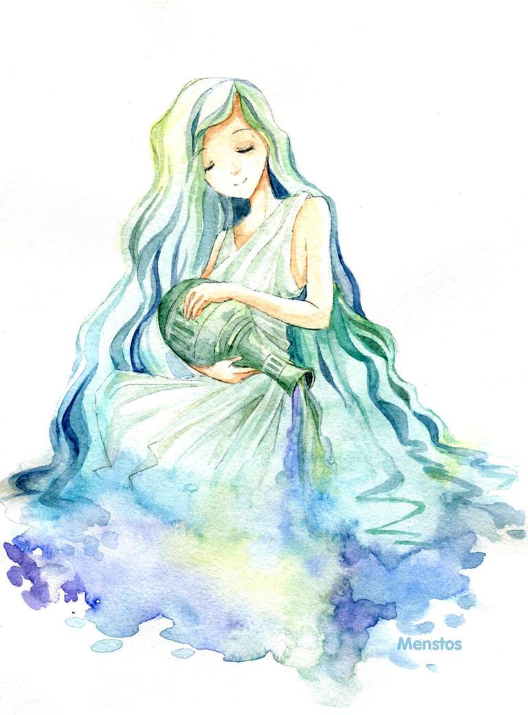 Zodiac: Aquarius by Menstos on DeviantArt  Anime Aquarius