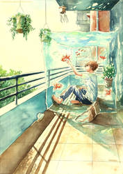 Goldfish Balcony by Menstos
