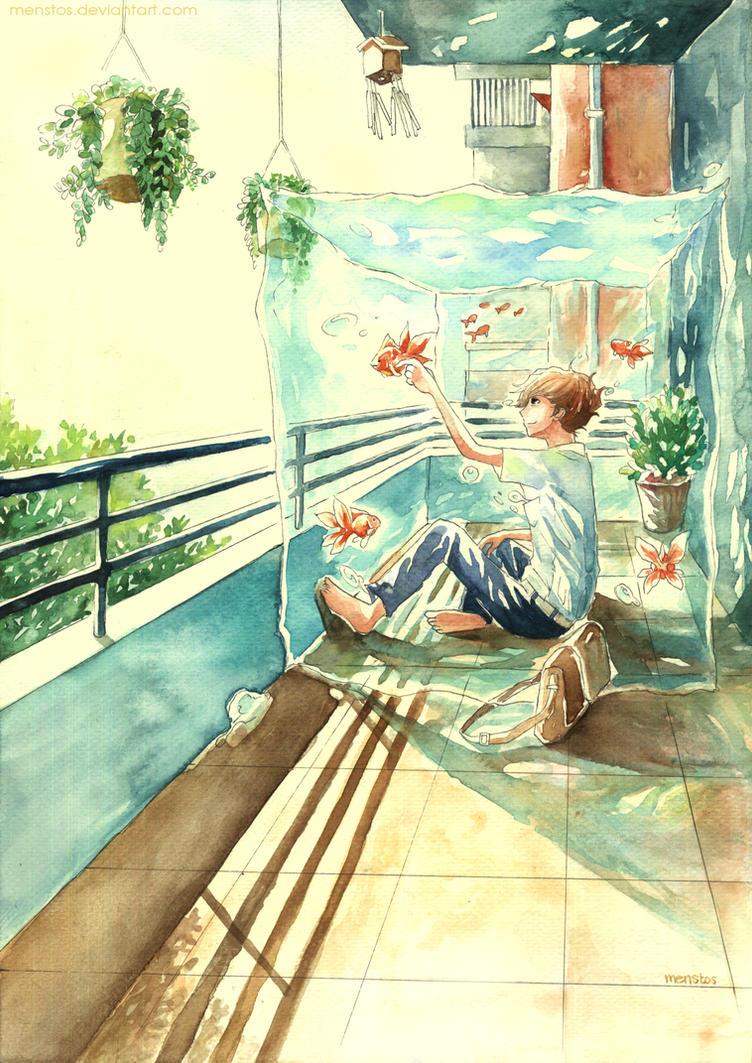 Goldfish Balcony by Menstos