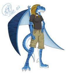Sapphire as Gargoyle by kwsapphire