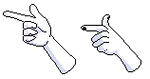 F2u Pixel Finger Guns by AlaskanCat