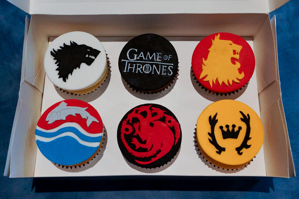 Game of Thrones Cupcakes by whisk-us-away