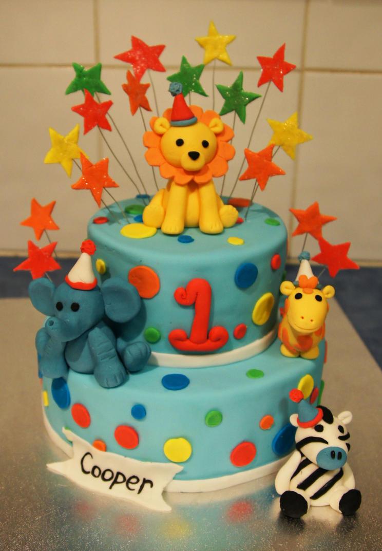 Zoo Animal Birthday Cake by whiskusaway on DeviantArt