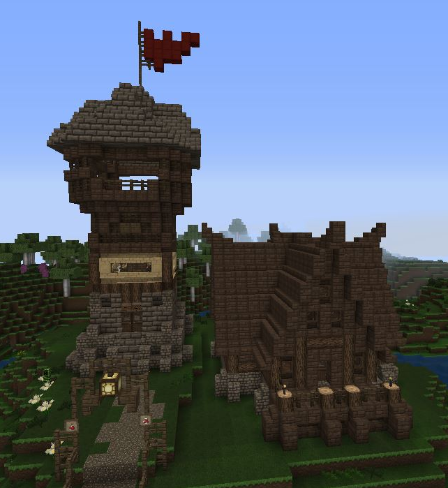 Medieval Minecraft Tower And House By Nyteriarising On Deviantart
