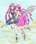 Sailor Lethe+Mnemosyne_Sailor Moon