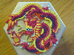 Quilled dragon box