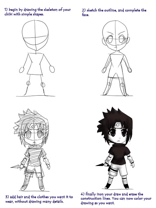 How to draw chibis by arandin