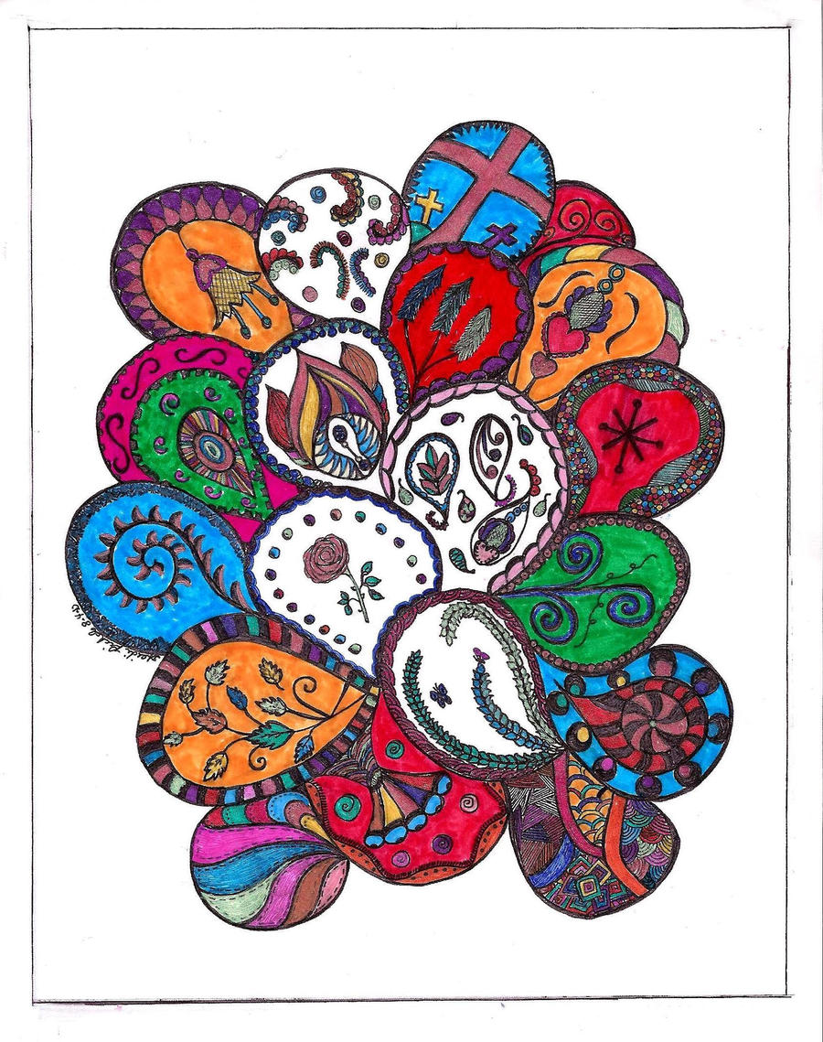 Paisley Patterns in color