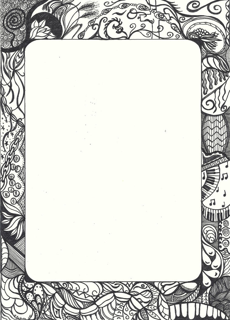 Doodle frame one by Heidipickels on DeviantArt