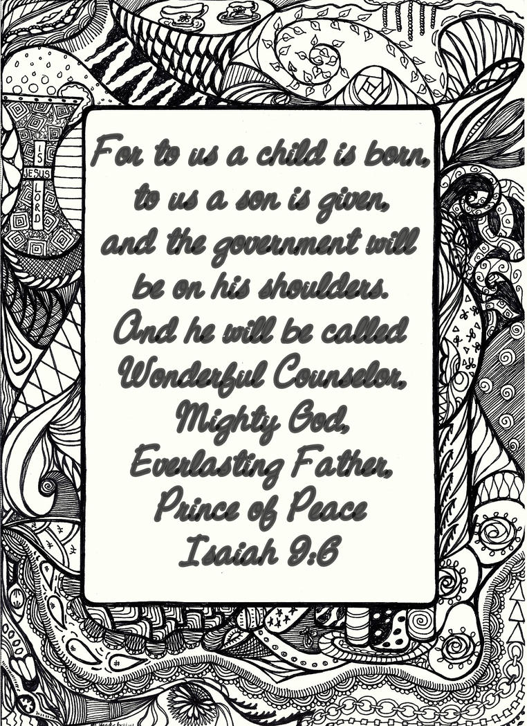 Isaiah 9 6 by heidipickels on deviantart for Isaiah 9 6 coloring page