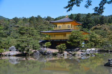 Kinkaku-ji - Temple of the Golden Pavilion by erinnicoleart84