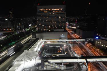 Hiroshima - Nighttime Traffic by erinnicoleart84