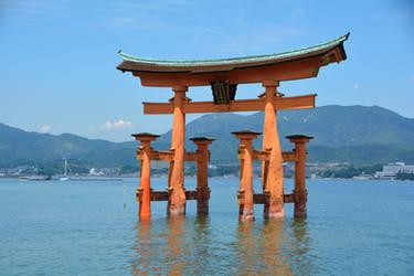 Itsukushima Shrine - Miyajima Island, Japan by erinnicoleart84