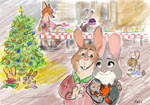 Zootopia postcard Bonnie and Stu