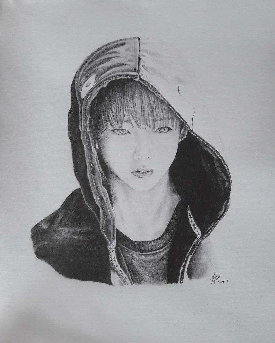 Taehyung [BTS] Black And White By MP-draw On DeviantArt