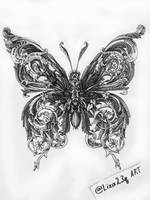 insect butterfly by liza23q