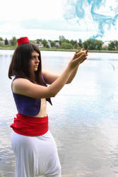 Aladdin woman version cosplay 2