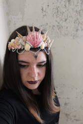 Mermaid seashell crown tiara