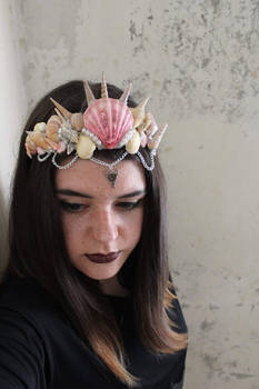 Mermaid seashell crown tiara