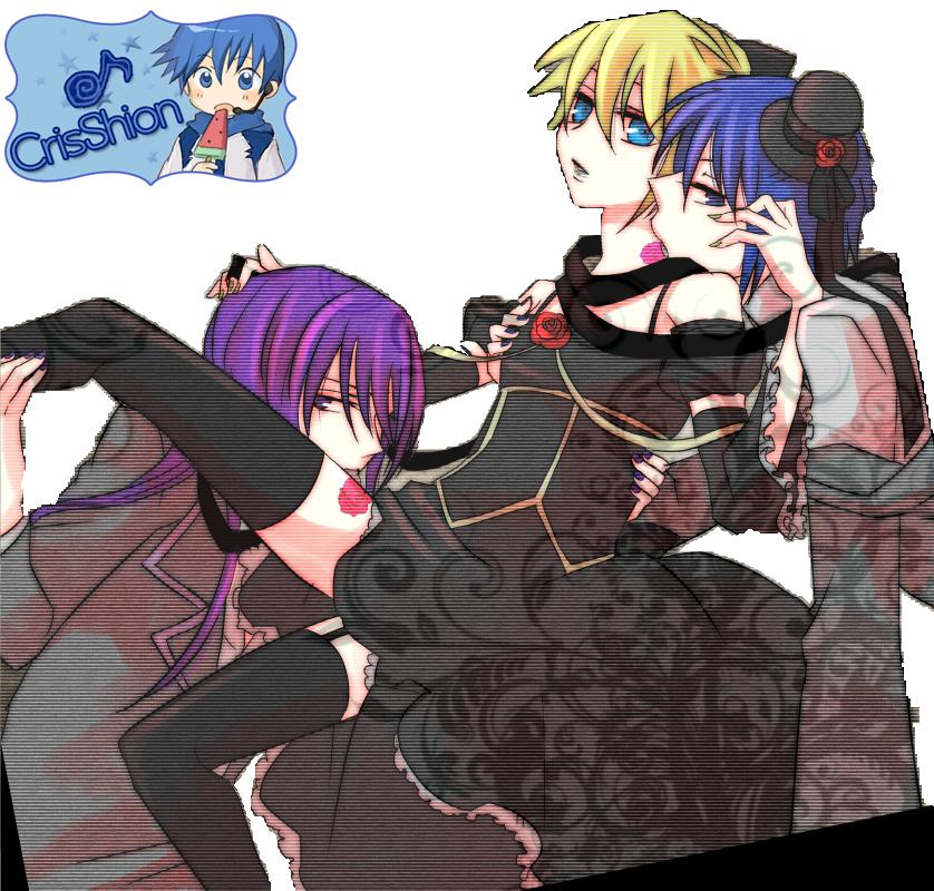 Gakupo Len and Kaito by CrisShionKaito X Len X Gakupo