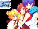 Len ,Rin,Kaito and meiko