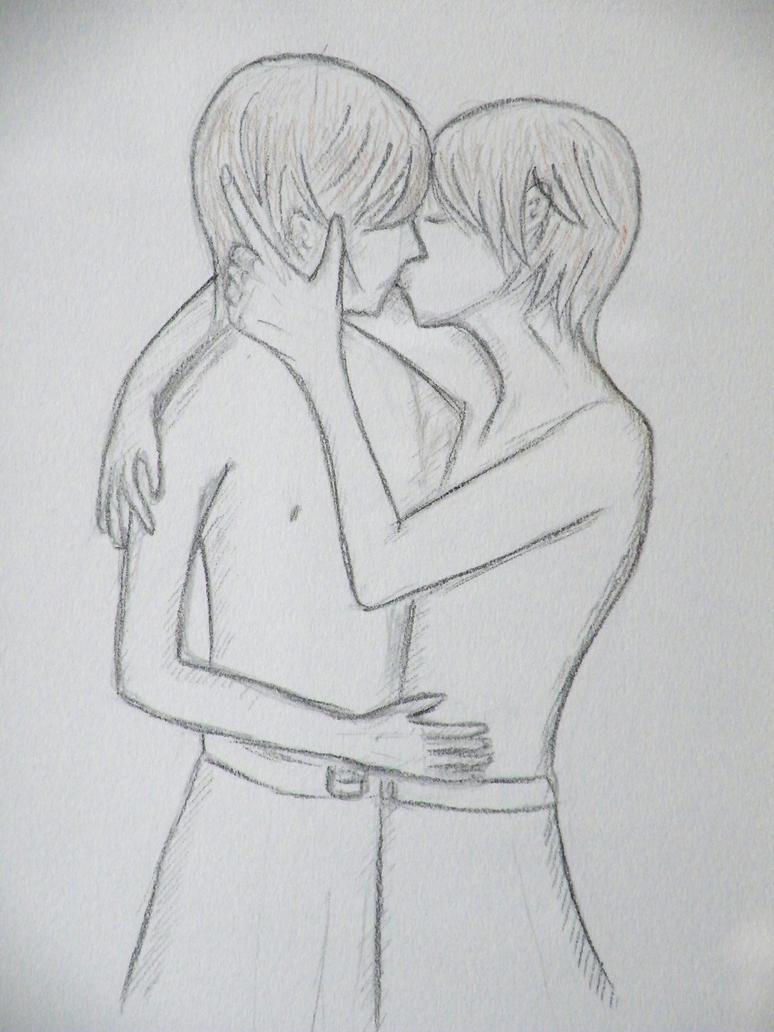Two boys kissing by vashtijoy