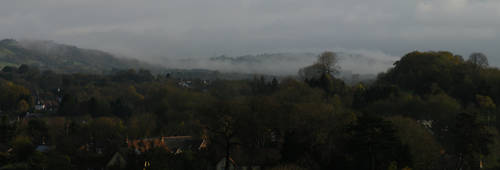 Fog over Caerphilly Mountain by vashtijoy
