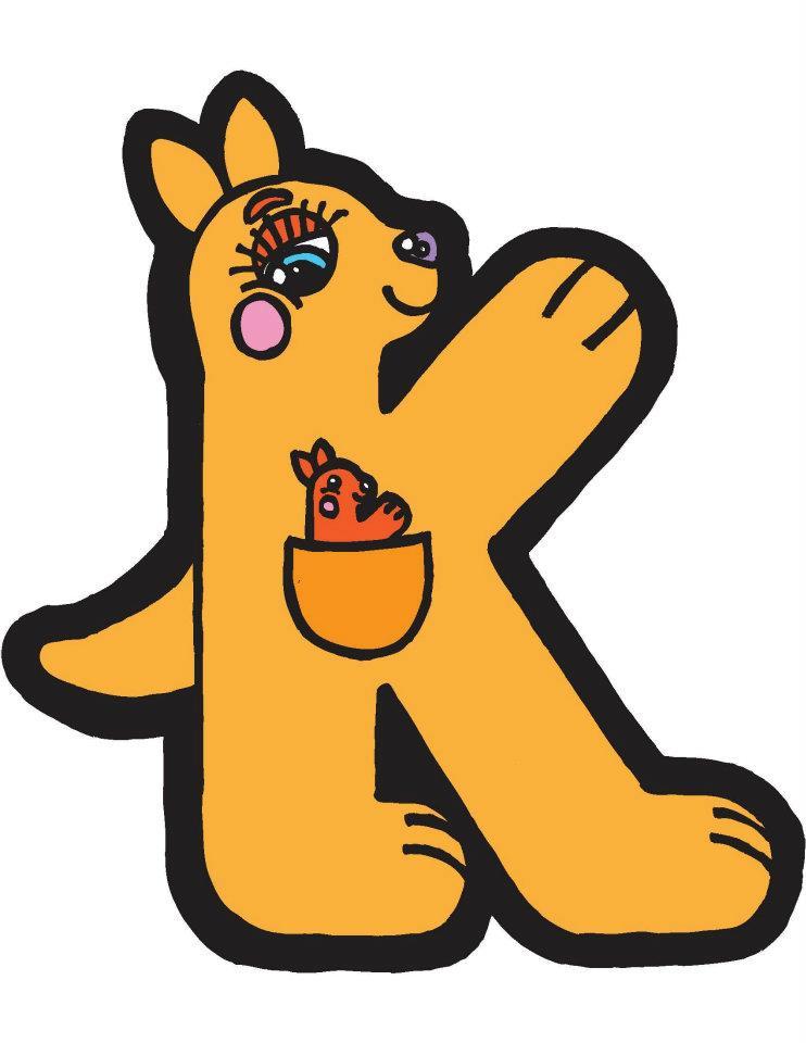 k kangaroo alphapet by brendan klos by brendanklos