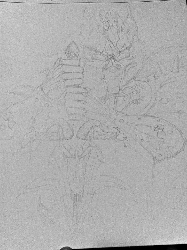 Lich King in Progress by EBoss01