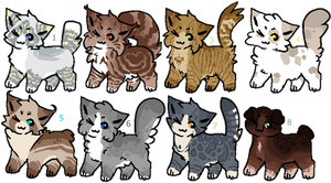 Lowered Prices! (1/8) RSW Cat Adopts  - Batch 3 by GlaceonSky