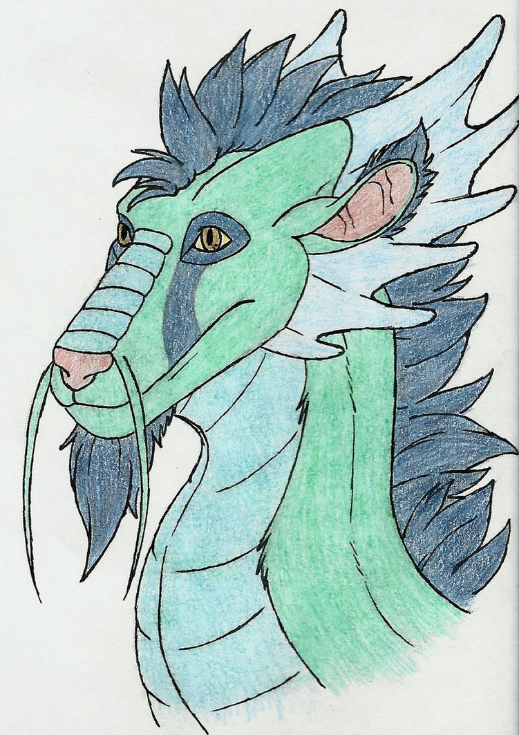 Dragon head: 3/4 view (Color) by eon54 on DeviantArt