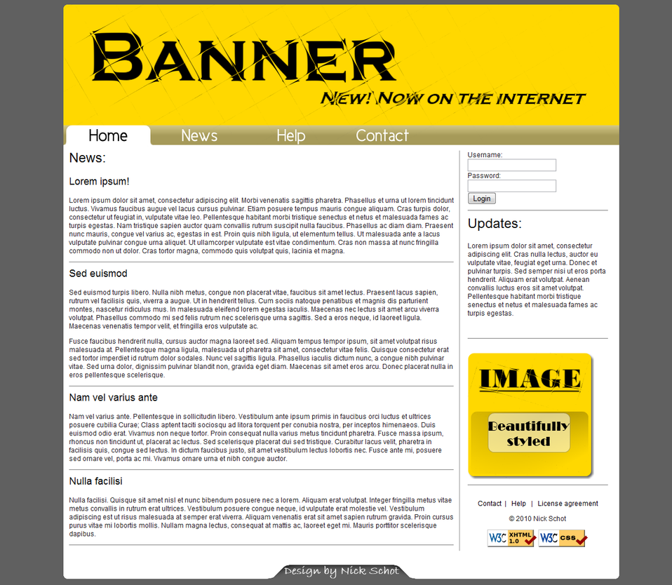 Sutes That Are Yellow: Yellow-White Website Template By Nickschot On DeviantArt