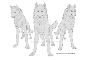 {Pay to Use} - 3 Wolves Lineart