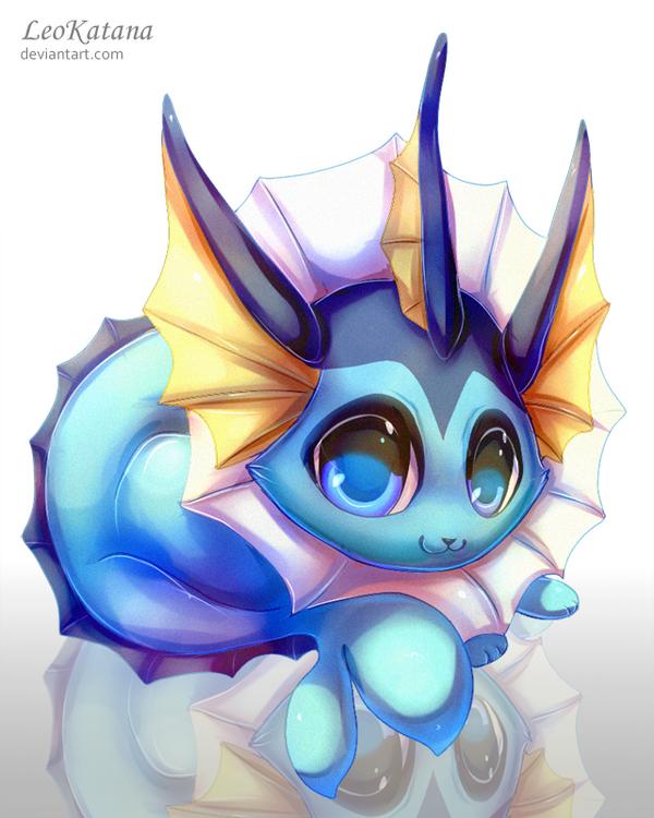 =Pokemon= Chibi Vaporeon by LeoKatana