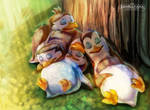 +PoM+ Nap under the tree by LeoKatana