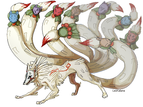 chibi nine tailed fox