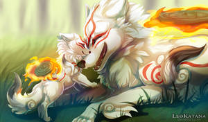 =OKAMI= Goddess and her Son