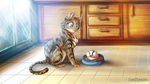 Why you step on my food? by LeoKatana