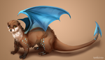 {Commission} - Dragon Otter by LeoKatana