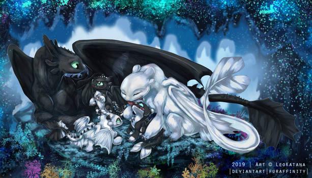 =HTTYD= Night Light Family by LeoKatana