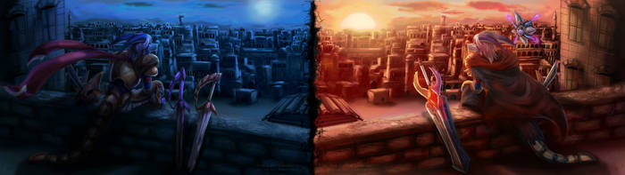 {Commission} - Crossed Timeline by LeoKatana