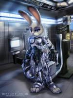 {Commission} - Robocop Judy Hopps by LeoKatana